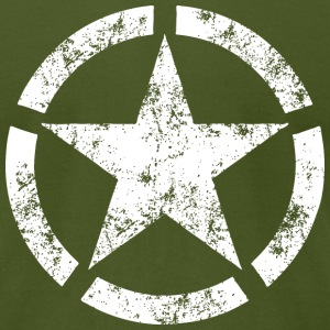 Distressed Broken Ring Star National Symbol - Men's T-Shirt by American Apparel