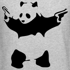 Hardcore Panda Long Sleeve Shirts