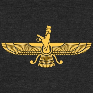 Faravahar, Zarathustra, Symbol of Higher Spirit T-Shirts - Unisex Tri-Blend T-Shirt by American Apparel
