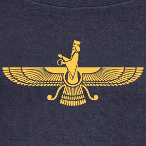 Faravahar, Zarathustra, Symbol of Higher Spirit Long Sleeve Shirts - Women's Wideneck Sweatshirt