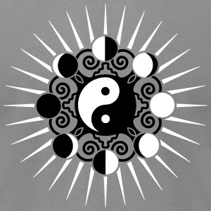 Moon, Sun & Yin Yang - Symbol duality & polarity T-Shirts - Men's T-Shirt by American Apparel