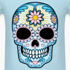 Colorful Sugar Skull T-Shirts