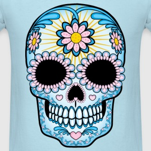 Colorful Sugar Skull T-Shirts - Men's T-Shirt