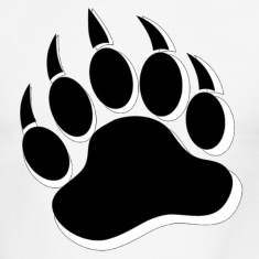 Gay Bear Pride Black and White Bear Paw