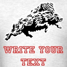 rampant_wild_boar_on_light T-Shirts