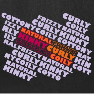 Natural Frizzy Kinky Curly Cottony Coily Bags & backpacks - Tote Bag