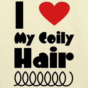 I Love My Coily Hair Bags & backpacks - Eco-Friendly Cotton Tote