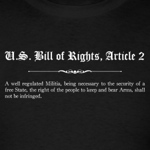 U.S. Bill of Rights - Article 2 T-Shirts - Men's T-Shirt