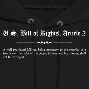 U.S. Bill of Rights - Article 2 Hoodies - Men's Hoodie