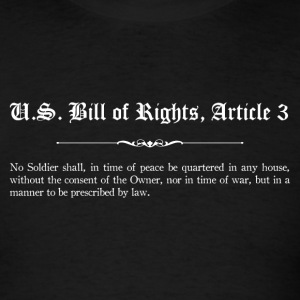 U.S. Bill of Rights - Article 3 T-Shirts - Men's T-Shirt