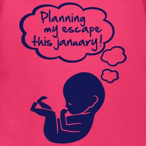 planning my escape this january Women's T-Shirts - Women's V-Neck T-Shirt