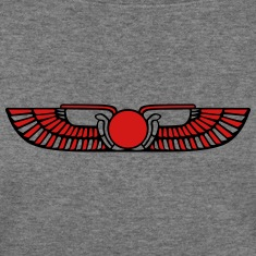 Winged Sun Disk, Solar symbol, Ra, Falcon, Cobra Long Sleeve Shirts