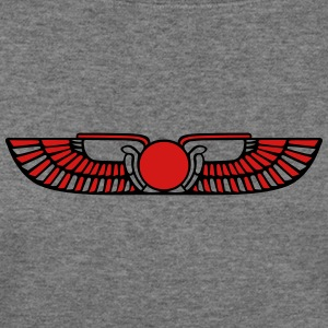 Winged Sun Disk, Solar symbol, Ra, Falcon, Cobra Long Sleeve Shirts - Women's Wideneck Sweatshirt