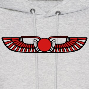 Winged Sun Disk, Solar symbol, Ra, Falcon, Cobra Hoodies - Men's Hoodie
