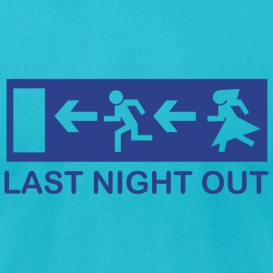 bachelor escape last night out T-Shirts - Men's T-Shirt by American Apparel
