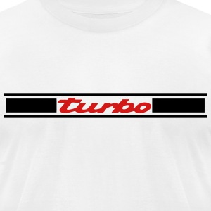 turbo stripes - Men's T-Shirt by American Apparel