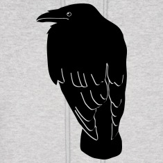 raven crow gothic bird wings dark fly Hoodies