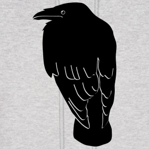raven crow gothic bird wings dark fly Hoodies - Men's Hoodie