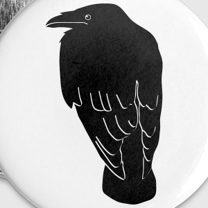 raven crow gothic bird wings dark fly Buttons - Large Buttons
