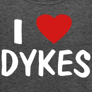 I LOVE DYKES - Women's Flowy Tank Top by Bella