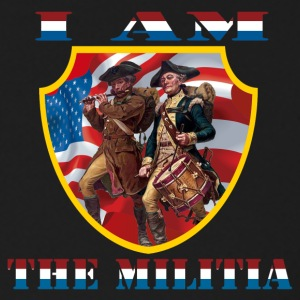 I Am the Militia Mens Sweatshirt (Breast Insigni - Crewneck Sweatshirt