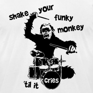 Shake Your Funky Monkey Black T-Shirts - Men's T-Shirt by American Apparel