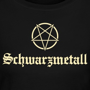 Schwarzmetall - German for Black Metal No.1 Long Sleeve Shirts - Women's Long Sleeve Jersey T-Shirt