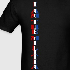I Am the Militia Mens Tee (Vertical Block) - Men's T-Shirt