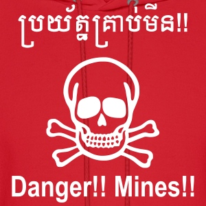 Danger Mines / Cambodian Khmer Sign Hoodies - Men's Hoodie