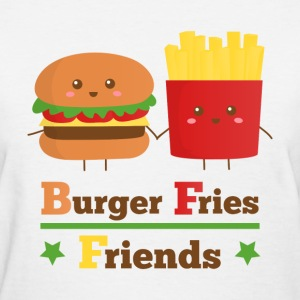 burger and fries friends BFF Women's T-Shirts - Women's T-Shirt