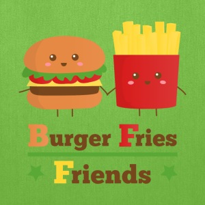 burger and fries friends BFF Bags & backpacks - Tote Bag