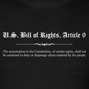 U.S. Bill of Rights - Article 9 T-Shirts - Men's T-Shirt