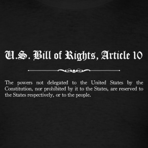 U.S. Bill of Rights - Article 10 T-Shirts - Men's T-Shirt