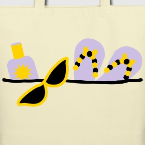 beach essentials fun design by patjila2_2013 Bags & backpacks - Eco-Friendly Cotton Tote