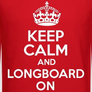 Keep Calm And Longboard On Crewneck - Crewneck Sweatshirt