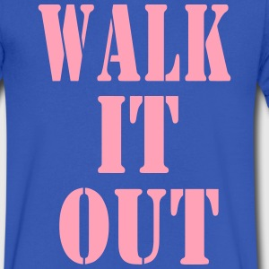 WALK IT OUT T-Shirts - Men's V-Neck T-Shirt by Canvas