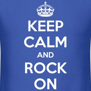 Keep Calm and Rock On - Men's T-Shirt