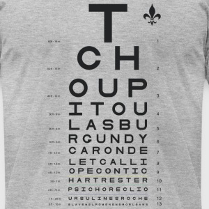 New Orleans Eye Chart T-Shirts - Men's T-Shirt by American Apparel