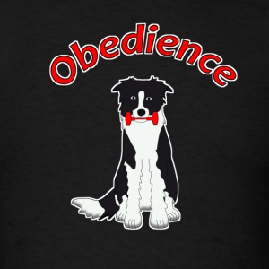 obedience border collie 3 T-Shirts - Men's T-Shirt