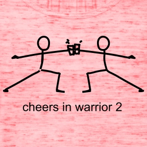 Cheers in Warrior 2 - Women's Flowy Tank Top by Bella