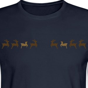 pixel reindeers Long Sleeve Shirts - Men's Long Sleeve T-Shirt