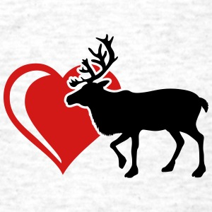 moose elk heart T-Shirts - Men's T-Shirt