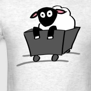 Sheep in a Cart - Men's T-Shirt