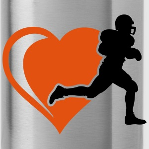 football heart Bottles & Mugs - Water Bottle