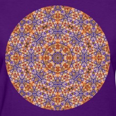 Purple and Gold Mandala  Women's T-Shirts