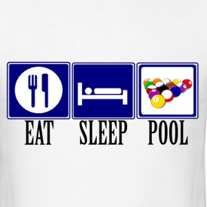 Eat, Sleep, Pool - Men's T-Shirt