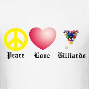 Peace, Love, Billiards - Men's T-Shirt
