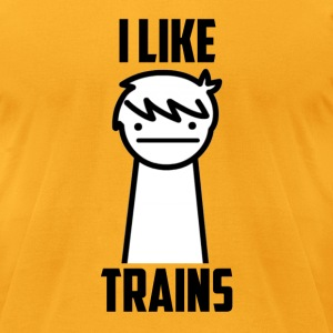 I Like Trains  - Men's T-Shirt by American Apparel