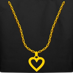 Gold Heart Pendant Bags & backpacks - Eco-Friendly Cotton Tote