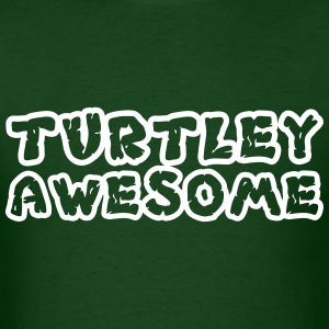 Turtley Awesome Outline Shirt T-Shirts - Men's T-Shirt